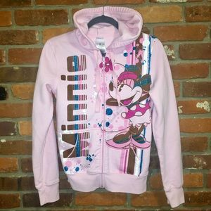 Disney Minnie Mouse Pink Hoodie / Medium